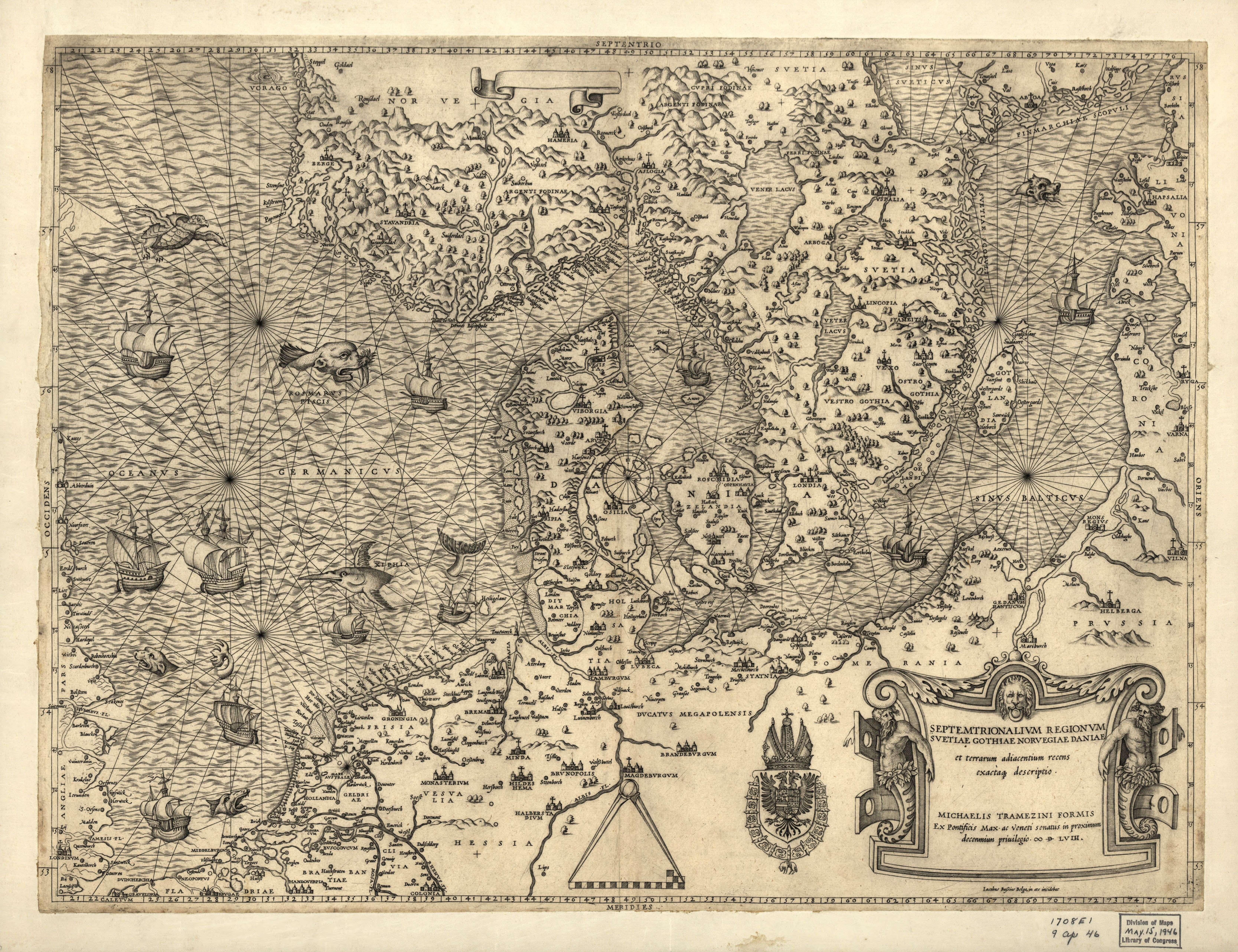 History-Maps.ru: Северная Европа, 1558
